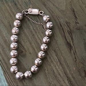 Silpada Retied 925 Sterling Silver Beaded Bracelet
